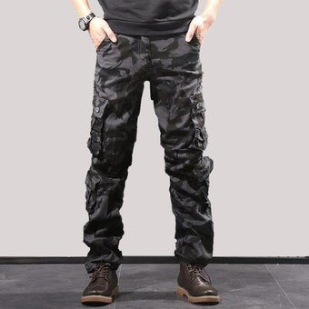 Pantalones De Camuflaje Militar Para Hombre Pantalones Cargo De Varios Bolsillos Pantalones Para Correr De Estilo Hip Hop Ropa Urbana Pantalones Tacticos De Camuflaje Venta Al Por Mayor Chun Black Linio Peru