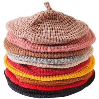 evitar Numérico Tectónico  Sombreros de boina de punto de lana para niñas Gorras de color sólido sin  borde | Linio Chile - GE018TB041XJ8LACL