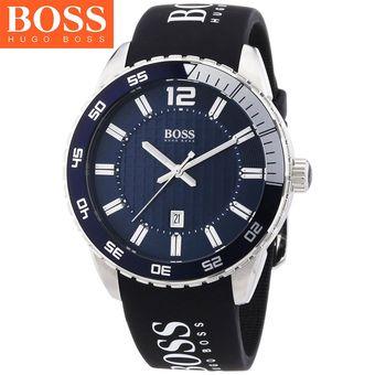 04547c7591bd Compra Reloj Hugo Boss 1512887 Acero Inox Correa De Silicona - Negro ...
