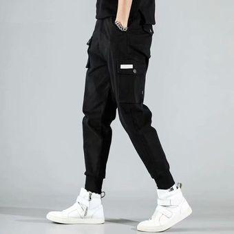 Pantalones Cargo De Haren Con Multiples Bolsillos Para Hombre Pantalones De Chandal Casuales De Hip Hop Para Hombre Pantalones Para Correr Pantalones De Moda Harajuku Hipster Pantalones De Calle Wan Linio