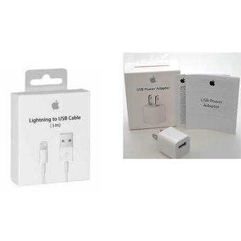 32b064982a7 Compra Cargador Apple Original Cubo 5W + Cable 1mt Iphone 5,6,7 ...