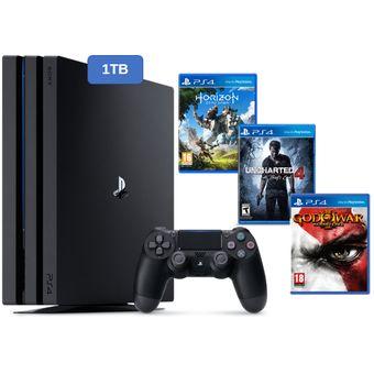 Compra Consola Ps4 Pro Playstation 4 1tb 4k Negro 3 Juegos Online