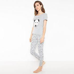 8326108b69 Pijama Gris Algodón Mujer Sybillla
