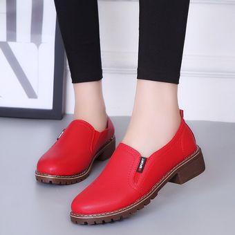 d26f797823 Zapatos Planos PU Con Cordones Y Punta Redonda Zapatos Oxford Mujer ...