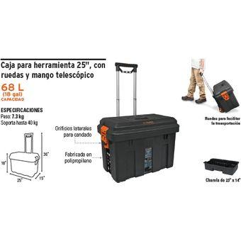 Compra caja para herramientas con ruedas y mango online for Cajas plasticas con ruedas