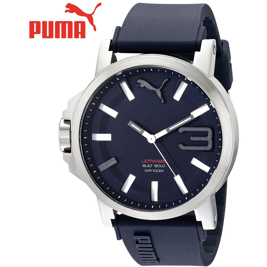 Mamut bomba Resolver  Reloj Puma Ultrasize XL PU103911003 Acero Correa De Silicona ...