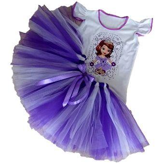 Agotado Tutu Princesa Sofia Conjunto Tutu Para Niña Personajes Disney Princesa  Sofia 9a55b613ff8
