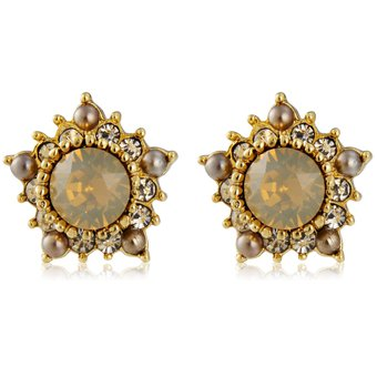 4a681c84cc9a Compra 1 Par De Aretes De Cristal De Moda Pentáculo (oro) online ...