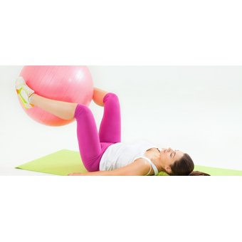 Compra Bola De Yoga 56cm Fitness Pilates Body Sculpture - Rosado ... b10b3ee6a021