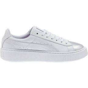 3232df651 Tenis Basket Platform Iridescent 364525-01 Puma Para Mujer Blanco