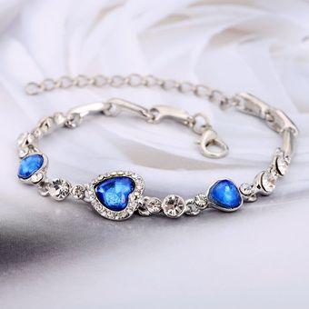 6673ef95e2d1 Compra JR Pulsera De Diamantes Artificial Para Mujer-Azul online ...