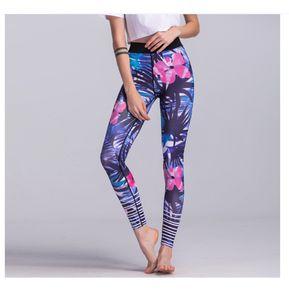 ce46a0dd58002 Leggings Deportivos Lila Flores Yoga Gym Yofit