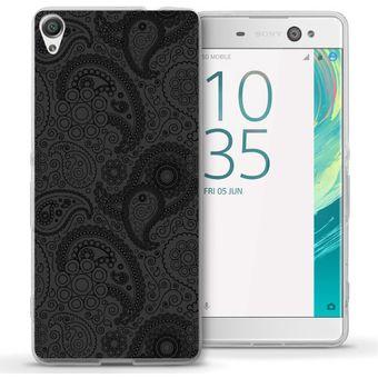 c53f3a62347 Agotado Funda Para Celular Sony Xperia XA Ultra - Paisley Gris Con Negro