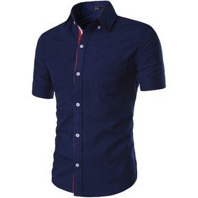 347f9e294a Camiseta Casual De Manga Corta Slim Fit Camiseta Abotonar