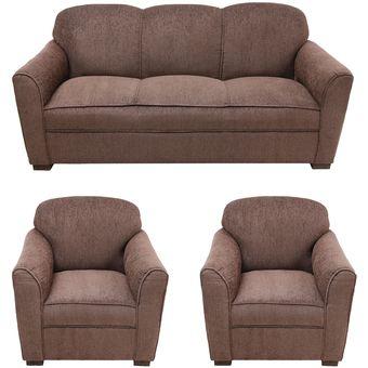 Compra juego de sala keia allison 3 1 1 chenille marr n for Compra de muebles en linea