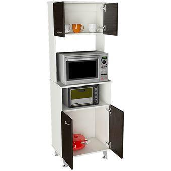 Compra mueble de cocina tuhome kitchen 54 blanco wengue online linio chile - Mueble alto microondas ...
