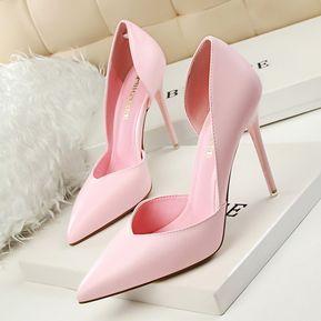 d5ba469660b3e Zapatos De Tacones Altos De Moda Bombas De Mujer-Rosa