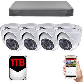 Kit Completo CCTV 4 Camaras De Seguridad EPCOM KEVTX8T4EWH TurboHD 1080P -  Anti Vandalismo - Gran 9cd15045d55