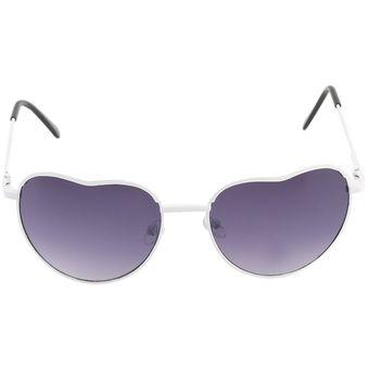 9fd3ad7e8d Retro mujeres exclusivo diseño en forma de corazón Marco de aleación de  gafas Gafas de sol