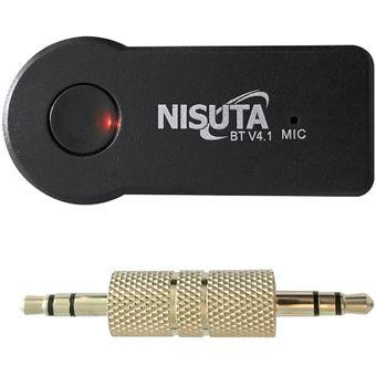 Receptor Bluetooth Musica Nisuta Manos Libres Para Auto Equipo 3,5m -Negro
