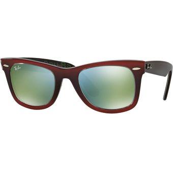 639957393cc8a Agotado Gafas de Sol Ray Ban Wayfarer Rojo Brillante - 0RB2140 - Unisex