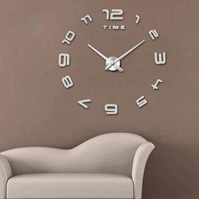21aa1e0be2f6 Moderno sin marco DIY 3D espejo etiqueta de la pared reloj tranquilo