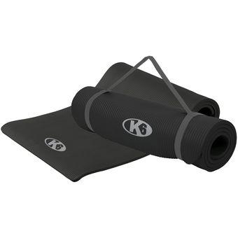 Compra Colchoneta Profesional Yoga Mat Para Pilates Fitness Negro ... 5667ee55f37f