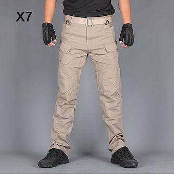 Pantalones Tacticos Para Hombre Pantalones Militares De Camuflaje Pantalones Cargo Para Hombre Ropa Broeken Mannen Pantalones Para Hombre Pantalones Tacticos Wan X7 Khaki Linio Peru Ge582fa0rbeq3lpe
