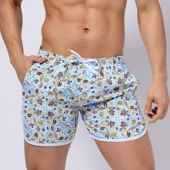 358a0f447c42 Pantalones Cortos De Natación Hombre Traje De Baño Ropa De Playa