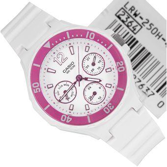 Dama 4av Casio Blanco Reloj Lrw Para 250h f76ygb