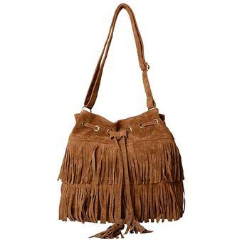 48f9fd67d Agotado Gamuza Flecos Bolso Bandolera Bolsos Nueva Moda Mujer Para -Brown