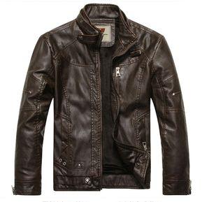 15824b3809478 hombres chaqueta de cuero chaqueta motocicleta chaqueta de cuero hombres
