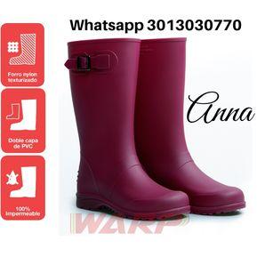 e954140b Botas de Lluvia Mujer Anna Impermeables Fucsia