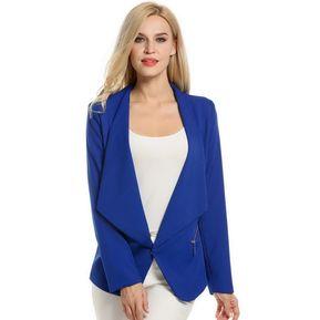 Blazer Estructura Para Mujer-Azul Marino 45adb6f53130