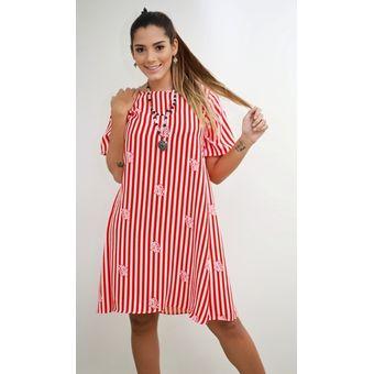 1153239a2 Vestido materno Plenitud, 9 Meses, VM02 - Rojo