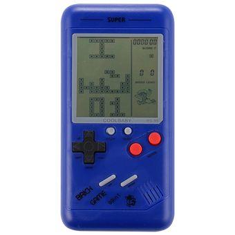 Rs 99 Tetris Clasico Retro Consola De Juegos Portatil Pantalla De 3 5 Pulgadas Construido En 36 Tipos De Juegos Azul
