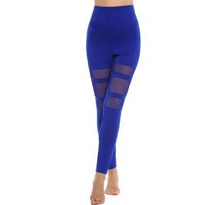 Pantalón Yoga Deportes Malla Elástica Para Mujer-Azul 88b9c048f5f
