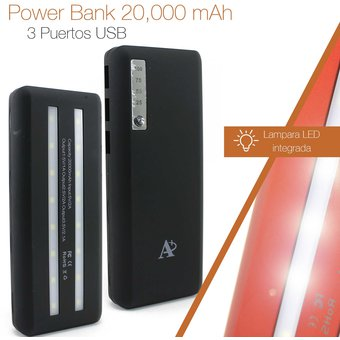 e82058e5dee6c Compra POWER BANK BATERIA RESPALDO PORTATIL LINTERNA LED 20000MAH ...