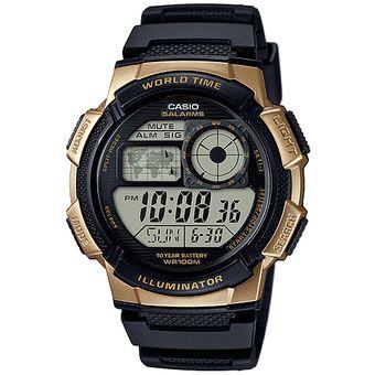 6ff42749f653 Reloj CASIO AE-1000W-1A3VCF World Time Collection Análogo-Digital  ILUMNATOR-Negro