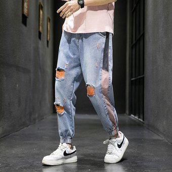 Pantalones Vaqueros Retro Almazuela Para Hombre Para Primavera Verano Pantalones Anchos De Camuflaje Para Hombre Pantalones Atados Al Tobillo Pantalones De Corredor De Carga Con Multiples Bolsillos Cintura Elastica Wot Linio Peru