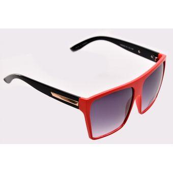 6858d79e63 Gafas De Sol Retro Cuadrado Marco Plástico Oversized Para Hombre Mujer  Unisex - Rojo