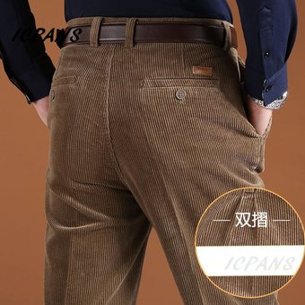 Pantalones De Pana Para Hombre Pantalones Rectos Gruesos Calidos De Otono Invierno Para Hombre Pantalones De Cintura Alta Para Hombre Pantalones De Talla Grande 46 Wt 612 Khaki Yellow Linio Colombia Ge063fa1c84thlco