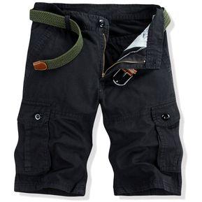 6cff945126 Hombres Algodón Casual Pantalones Cortos Al Aire Libre Excursionismo  Montaña Pantalones Cortos - Negro