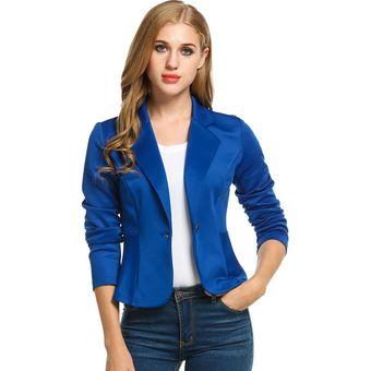 Blazer mujer azul