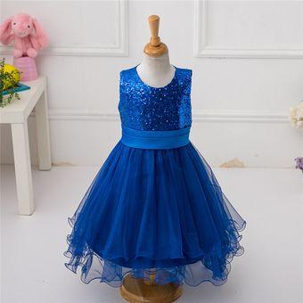Vestidos de fiesta azul para ninas