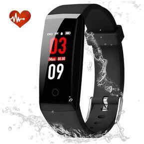 a2aa8e598b25 Rastreador de ejercicios con monitor de ritmo cardíaco-Negro