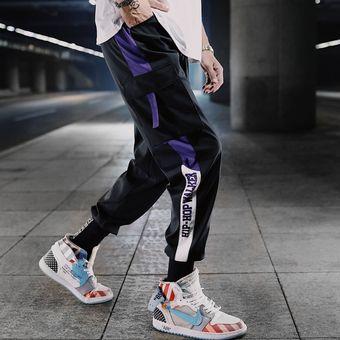 Pantalones De Hombre Nueva Moda Streetwear Color De Costura Joggers Hip Hop Pantalones Largos Hombres Cintura Elastica Pantalones Cargo Wan Linio Peru Ge582fa1bn5bflpe