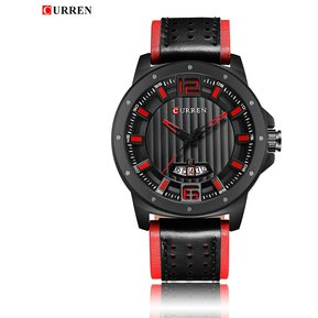 f39bebcae556 Curren 8293 reloj de cuero deporte negocios para hombre negro