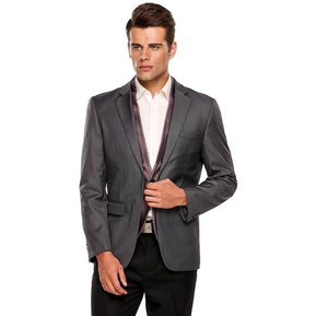 083ab0482b2ec Traje De Suit De Oficina Formal Ajustado Para Hombre-Gris