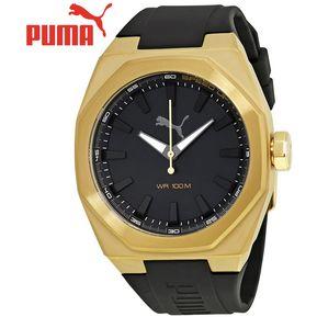 60237e918 Reloj Puma Octa PU104051004 Acero Inoxidable Correa De Silicona - Dorado  Negro